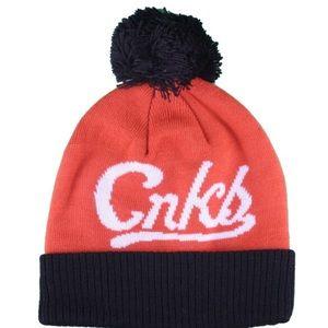 Crooks & Castles Orange Black Pom Beanie🧡🖤